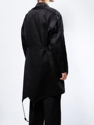 Пальто с подололом на резинке Yang Li. Цвет: чёрный