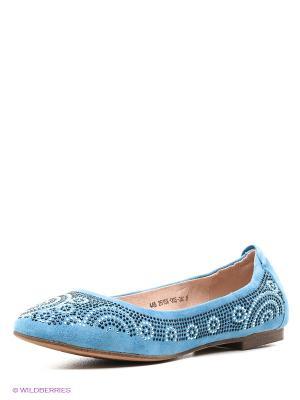 Балетки Francesco Donni. Цвет: голубой