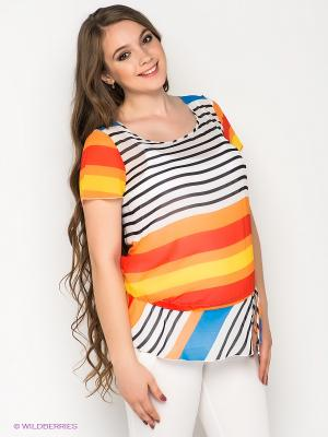 Туника Gemko. Цвет: белый, оранжевый, черный