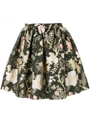 Пышная мини-юбка с цветочным принтом Piccione.Piccione. Цвет: многоцветный