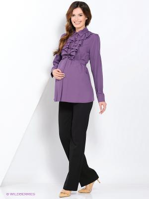 Блузка MammySize. Цвет: сиреневый
