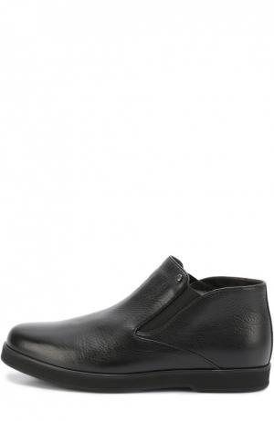 Кожаные ботинки с внутренней меховой отделкой Aldo Brue. Цвет: черный