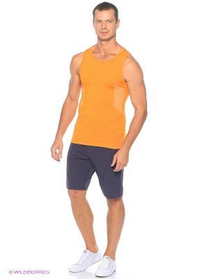 Майка United Colors of Benetton. Цвет: оранжевый, светло-коричневый, рыжий