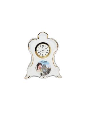 Часы принцесса СиСи. Reutter Porzellan. Цвет: коричневый, голубой, белый