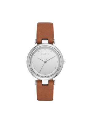 Часы SKAGEN. Цвет: коричневый, серебристый