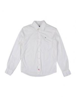 Pубашка COTTON BELT. Цвет: белый