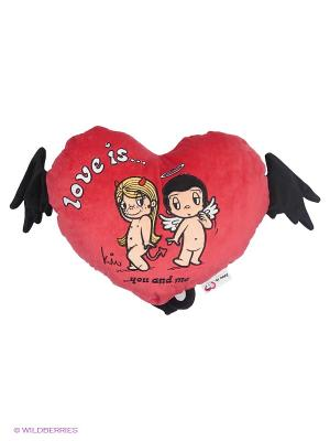 ПОДУШКА-сердце  Love is... MAXITOYS. Цвет: красный