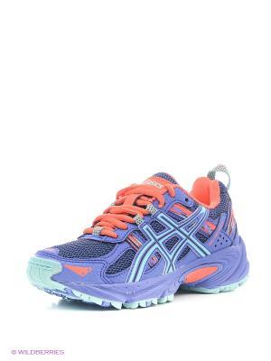 Спортивная обувь GEL-VENTURE 5 GS ASICS. Цвет: фиолетовый, коралловый, синий
