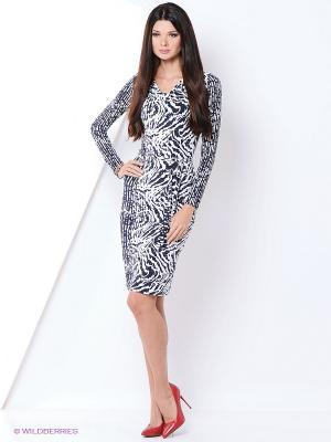 Платье Hammond. Цвет: белый, синий