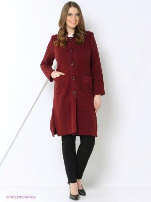 Пальто Ardamina. Цвет: бордовый