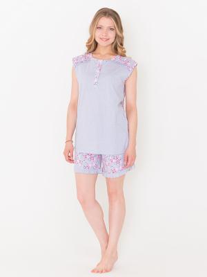 Пижама женская Лори. Цвет: светло-серый