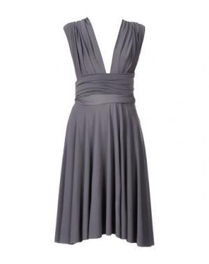 Платье до колена VON VONNI. Цвет: свинцово-серый