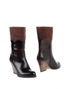 Полусапоги и высокие ботинки ELLEN VERBEEK. Цвет: темно-коричневый