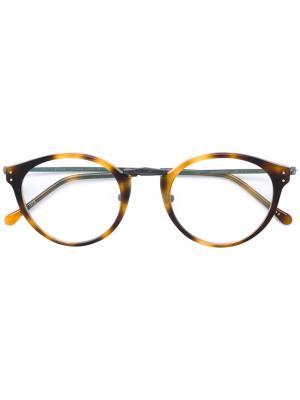 Round glasses Masunaga. Цвет: коричневый