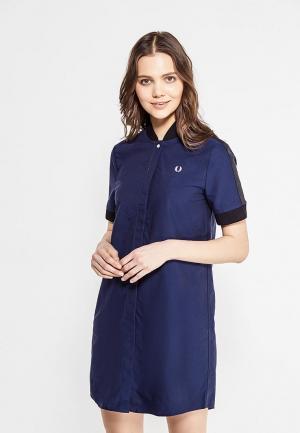 Платье Fred Perry. Цвет: синий