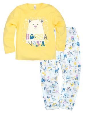 Пижама ДД Bossa Nova. Цвет: желтый, белый