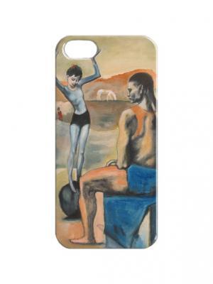 Чехол для iPhone 5/5s Пабло Пикассо - Девочка на шаре Арт. IP5-366 Chocopony. Цвет: бежевый, серый