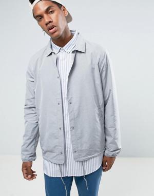 Herschel Supply Co Светло-серая спортивная куртка. Цвет: серый
