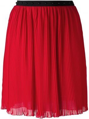 Плиссированная юбка Giamba. Цвет: красный