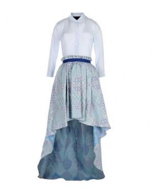 Длинное платье CHRISTIAN PELLIZZARI. Цвет: небесно-голубой