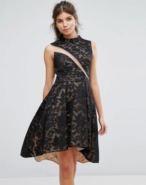 Forever Unique Короткое приталенное платье из кружева. Цвет: мульти