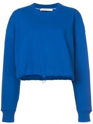 Укороченная толстовка Givenchy. Цвет: синий
