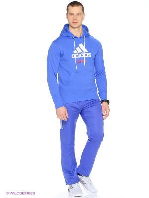 Худи Community Hoody Judo Adidas. Цвет: синий, белый
