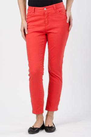 Прямые джинсы Million X Woman. Цвет: красно-оранжевый