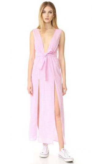 Платье с глубоким вырезом Esperanza Lioness. Цвет: серый