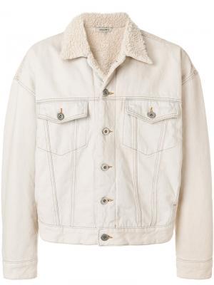 Куртка с подкладкой под овчину Yeezy. Цвет: телесный