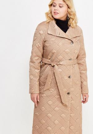 Куртка утепленная Brillare. Цвет: золотой