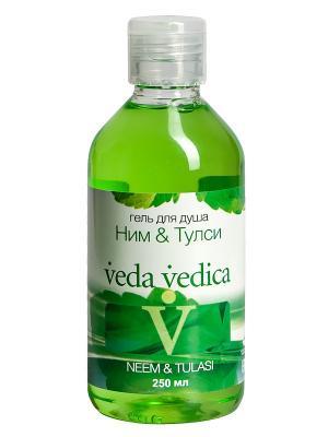 Гель для душа Ним и Тулси Veda Vedica. Цвет: светло-зеленый
