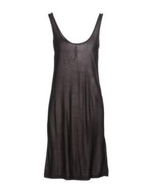 Короткое платье FIRST AID TO THE INJURED. Цвет: свинцово-серый