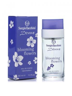 Donna Blooming Flowers lady edt 30 ml SERGIO TACCHINI. Цвет: темно-фиолетовый, светло-серый