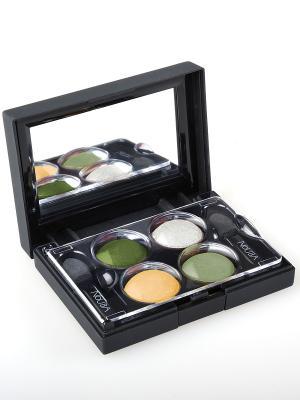 Тени для век КватроQuattro Eyeshadows 626, 2,4г NOUBA. Цвет: зеленый, бежевый, белый, хаки
