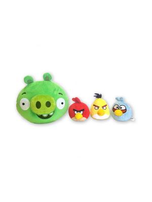 Интерактивная игра Свинка с 3 птичками CHERICOLE. Цвет: зеленый, голубой, желтый, красный