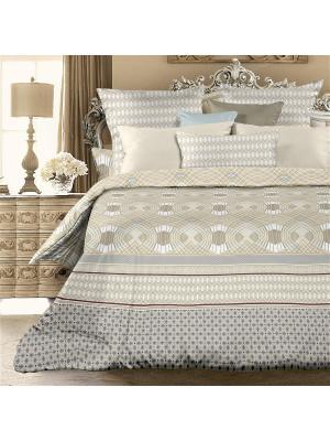 Комплект постельно белья евро биоматин Витторе Унисон. Цвет: серый, бежевый
