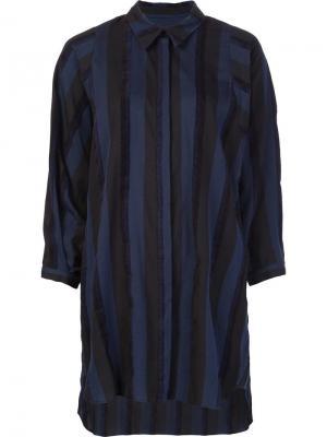 Полосатая рубашка свободного кроя Rachel Comey. Цвет: синий