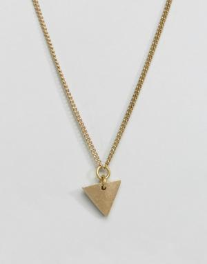 Made Ожерелье с треугольником. Цвет: золотой