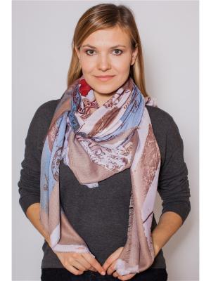 Платок Sophie Ramage. Цвет: коричневый, голубой, серый