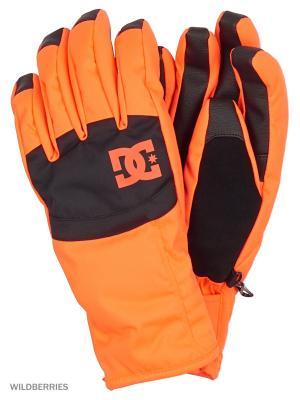 Перчатки DC Shoes. Цвет: оранжевый