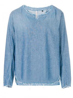 Джинсовая рубашка с необработанными краями Dnl. Цвет: синий