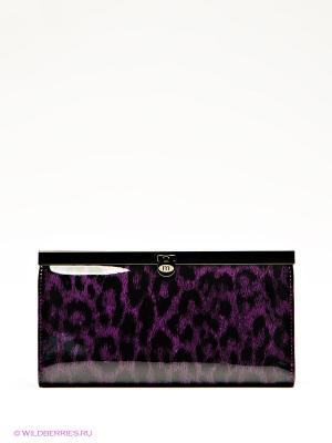 Кошелек Malgrado. Цвет: черный, фиолетовый