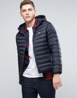 Hollister Черная куртка с капюшоном. Цвет: черный