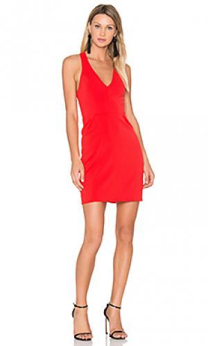 Платье santiago Amanda Uprichard. Цвет: красный