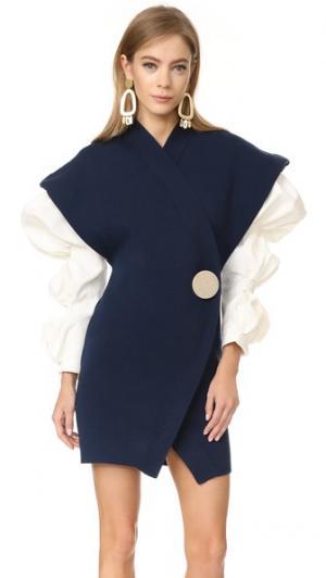 Мини-платье Jacquemus. Цвет: темно-синий