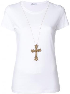 Декорированная футболка Dondup. Цвет: белый
