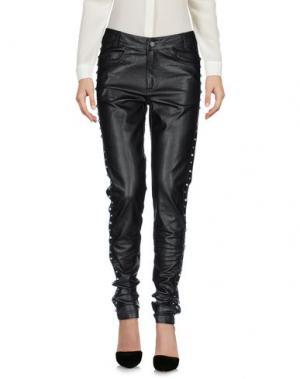 Повседневные брюки MOTEL ROCKS. Цвет: черный