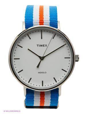 Часы TIMEX. Цвет: голубой, красный, белый
