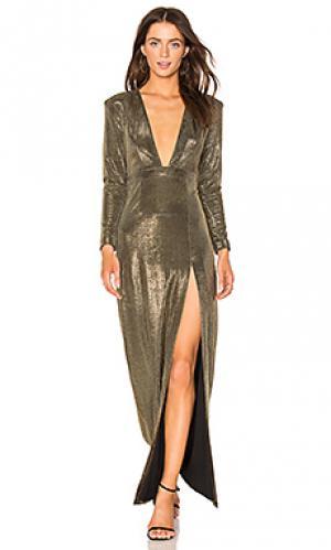 Вечернее платье alitza NBD. Цвет: металлический золотой